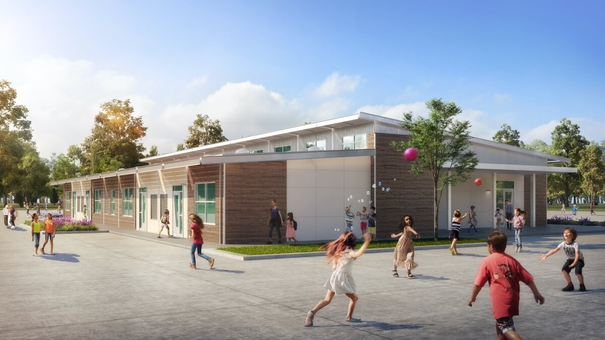 Murray Elementary's Custom Modular Campus Design Delivers Two-Story Style in a One-Story Building