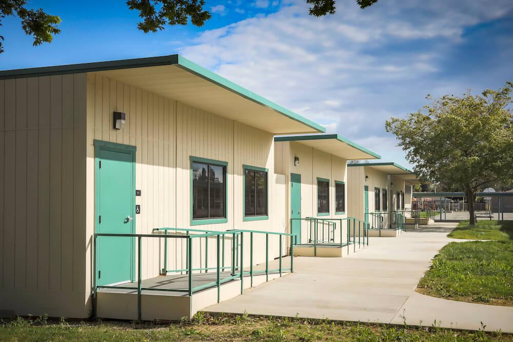 AMS pre-built new school building